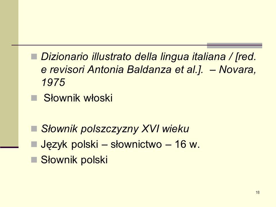 Dizionario illustrato della lingua italiana / [red